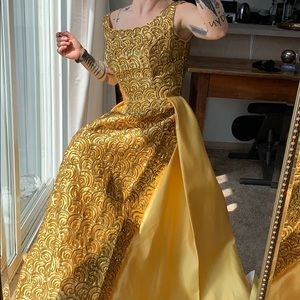 Vintage Mike Benet Gold Royals Gown